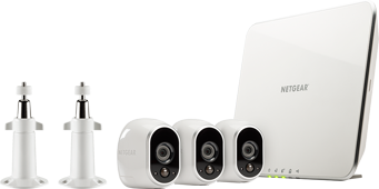 Arlo Smart Security System with 3 Arlo Cameras (VMS3330C)