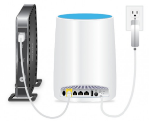 Connect the Orbi satellite to a power source