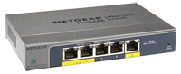 GS105PE-10000S - NETGEAR ProSafe Plus 5-port Gigabit Switch with POE Pass Through