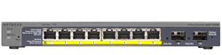 GS110TP ProSafe 8-port Gigabit PoE Smart Switch with 2 Gigabit Fiber SFP
