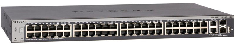 NETGEAR S3300-52X Gigabit Stackable Smart Switch with 10G Copper