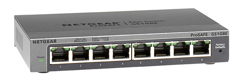 ProSafe® GS108E Plus Switch 8-port Gigabit Ethernet Switch