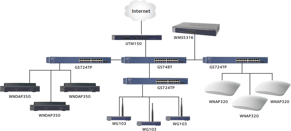 NETGEAR WMS5316 Wireless Management System Diagram